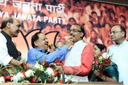 BJP Delhi President with party's CM candidate Dr. Harsh Vardhan