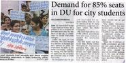 Moral victory for BJP, Delhi students to get reservation in DU colleges