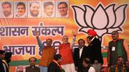 Shri Vijay Goel with Shri Narendra Modi at Dwarka Rally