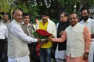 Shri Vijay Goel with noted Bhojpuri actor, singer Shri Manoj Tiwari