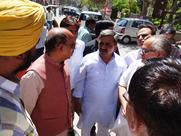 Visit to polling booths in New Delhi Constituency