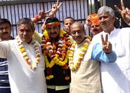 With Shri Manoj Tiwari after he filed his nomination from North East Delhi
